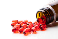 Vitamin E capsules Stock Photography
