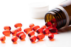 Vitamin E capsules Royalty Free Stock Photos