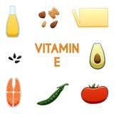 Vitamin E products royalty free illustration