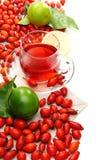 vitamin för tea för höftcitron rose Arkivbilder