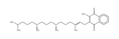 vitamin för phylloquinone för formel k1 strukturellt Royaltyfria Bilder