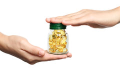 Vitamin fish oil Royalty Free Stock Image