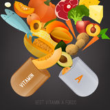 Vitamin A in Food Royalty Free Stock Photo
