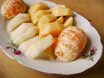 Vitamin fruit tray Stock Photo