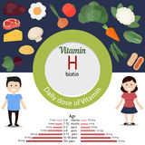 Vitamin H infographic Stock Photo
