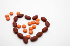 Vitamin Heart Stock Photo