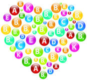 Vitamin Heart Stock Image