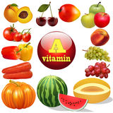 Vitamin a  herbal products The origin of the Stock Photos