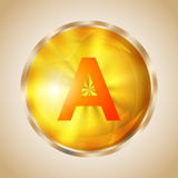 Vitamin A icon Royalty Free Stock Photography