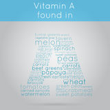 Vitamin A info-text background vector illustration