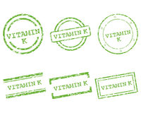 Vitamin K stamps Royalty Free Stock Photo