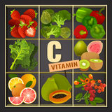 Vitamin-Kasten-Bild Stockbild