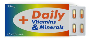 Vitamin and minerals capsules Royalty Free Stock Photography