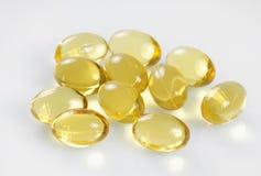 Vitamin oil capsules macro Stock Photo