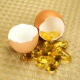 Vitamin Omega-3 fish oil capsules Royalty Free Stock Image