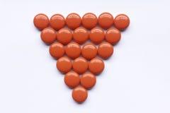 Vitamin orange color. Isolated on white background stock photography