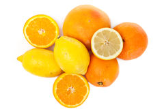 Vitamin from orange and lemon stock image
