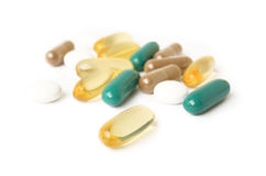 Vitamin pill Royalty Free Stock Images