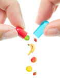 Vitamin pill Royalty Free Stock Photography