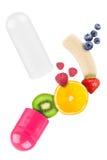 Vitamin pill Royalty Free Stock Image