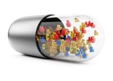 Vitamin pill Stock Image