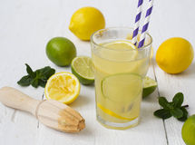 Vitamin refreshing cocktail with citrus and honey Stock Photos