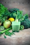 Vitamin-rich beverage - green smoothie, healthy drink. Full of vitamins and minerals Stock Image