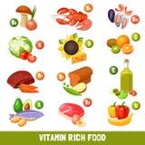 Vitamin Rich Food Products stock illustrationer