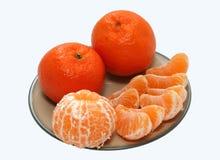 Vitamin-rika mandariner Royaltyfri Fotografi