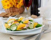 Vitamin salad with pink wine Stock Image