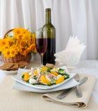 Vitamin salad with pink wine Stock Photos