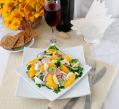 Vitamin salad with pink wine Royalty Free Stock Image