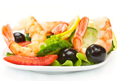 Vitamin salad with shrimps Stock Image