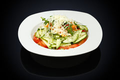 Vitamin salad in a white plate Stock Image