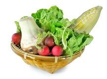 Vitamin set of vegetables Stock Images