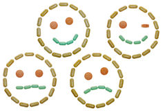 Vitamin smileys. The vitamin smileys vitamin smileys royalty free stock photo