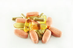 Vitamin supplements Royalty Free Stock Photos