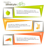 Vitamin template page leaflets fruits and vegetables Royalty Free Stock Photo