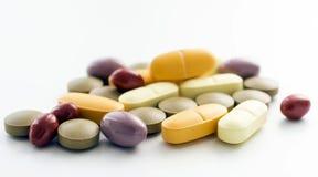 Vitamin und Mineralien stockbilder