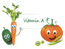 Vitamin A Vegetables Stock Photo