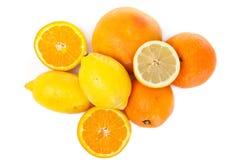 Vitamin von der Orange und von der Zitrone Stockbild