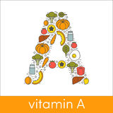 Vitamina A Immagine Stock