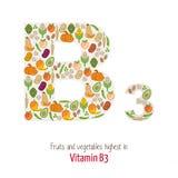 Vitamina b3 ilustração stock