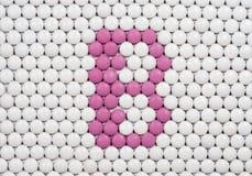 Vitamina B fatta delle pillole fotografia stock libera da diritti