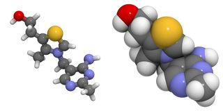 Vitamina B1 (thiamine) Imagens de Stock