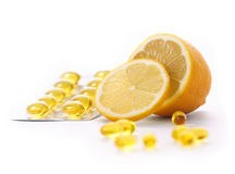 Vitamina C Imágenes de archivo libres de regalías
