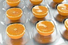 Vitamina C - Alaranjado Fotografia de Stock Royalty Free