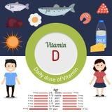 Vitamina D infographic Fotografía de archivo libre de regalías