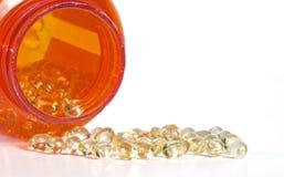 Vitamina D Softgels imagens de stock royalty free