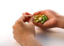 Vitamina dell'introito Fotografie Stock Libere da Diritti